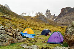 Huayhuash Trek campsite, Peru Royalty Free Stock Photography