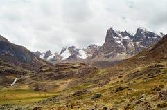 Huayhuash Trek, Peru. The Huayhuash mountain terrain, Peru Royalty Free Stock Photos