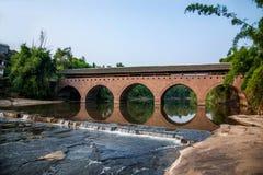 Huaying mosta Rzeczni antyczni mosty ---- Gwiazda (rabatowy most) Obrazy Royalty Free