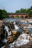 Huaying mosta Rzeczni antyczni mosty ---- Gwiazda (rabatowy most) Zdjęcia Royalty Free