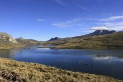 Huaylacancha laguna Andes Peru Zdjęcia Royalty Free