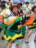 Huaylash folclórico antiguo de la danza Foto de archivo libre de regalías