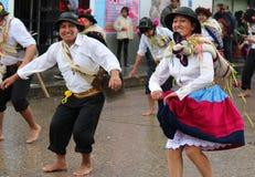 Huaylash folclórico antiguo de la danza Imagen de archivo libre de regalías