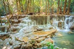 Huaymaekamin-Wasserfall Lizenzfreies Stockfoto