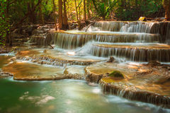 Huaymaekamin-Wasserfall Stockbild