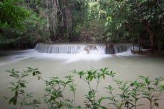 Huaymaekamin Waterfall is beautiful waterfall in Kanchanaburi , Royalty Free Stock Photography