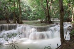 Huaymaekamin Waterfall is beautiful waterfall in Kanchanaburi , Royalty Free Stock Photos