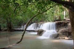 Huaymaekamin Waterfall is beautiful waterfall in Kanchanaburi , Stock Photo