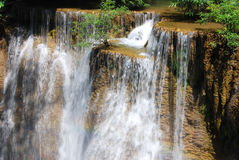 Huaymaekamin waterfall Royalty Free Stock Photo