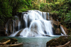 Huaymaekamin waterfall. Royalty Free Stock Photos