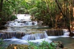 Huaymaekamin waterfall. Huaymaekamin waterfall in kanchanaburi, Thailand Royalty Free Stock Images