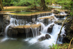 Huaymaekamin waterfall in Kanchanaburi, Thailand Stock Image