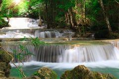 Huaymaekamin waterfall in Kanchanaburi, Thailand Stock Photography