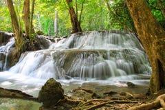 Huaymaekamin waterfall in Kanchanaburi, Thailand Royalty Free Stock Photography