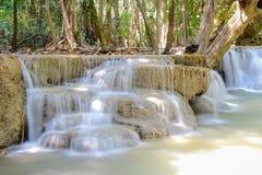 Huaymaekamin waterfall National Park, Kanchanaburi,Thailand Royalty Free Stock Photos