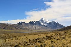 Huayna Potosi in Cordillera Real, Bolivian Andes Royalty Free Stock Photo