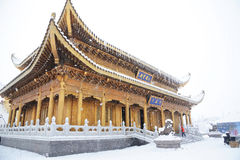 Huazhang temple of MT.Emei Royalty Free Stock Photos