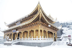 Huazhang temple  of MT.Emei Royalty Free Stock Photo