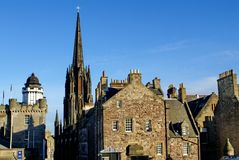 The Hub and Camera Obscura in Edinburgh, Scotland. The Hub and Camera Obscura at the top of the Royal Mile in Edinburgh, Scotland Royalty Free Stock Photography