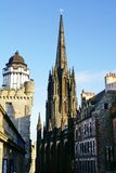 The Hub and Camera Obscura in Edinburgh, Scotland. The Hub and Camera Obscura at the top of the Royal Mile in Edinburgh, Scotland Royalty Free Stock Images