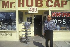 A Hub Cap man in San Jose, California Stock Images