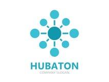Hub connection logo design Royalty Free Stock Photo