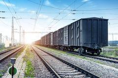 Hub de transport de train de fret photo stock