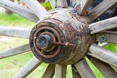 Hub di ruota di fine-spoked Fotografia Stock