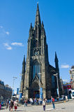 The Hub in Edinburgh, Scotland, view in sunny day with people Stock Image
