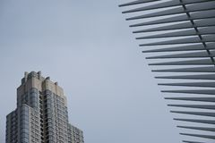 Hub et station de transport de World Trade Center d'Oculus photo stock