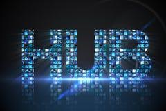 Hub fait d'écrans numériques dans le bleu Photographie stock