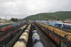 Hub ferroviaire Photographie stock libre de droits