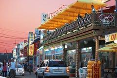 Hub latéral de restaurant de plage Photographie stock