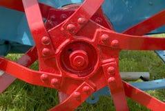Hub of old tractor wheel Stock Image