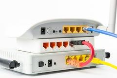 Hub senza fili della rete del router del modem Fotografie Stock Libere da Diritti