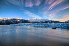 Hubbard冰川 免版税图库摄影