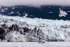 Hubbard阿拉斯加冰川 图库摄影