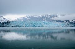 Hubbard Alaska lodowiec folujący zdjęcie royalty free
