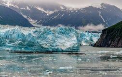 Hubbard glaciär, medan smälta Alaska Arkivfoto