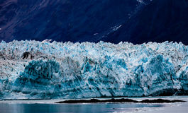 Hubbard Glacier Alaska. Hubbard Glacier, Alaska, USA - Sept. 11, 2016: This tidewater glacier is located in eastern Alaska and is part of Yukon Canada, off the stock photo