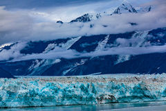Hubbard Glacier Alaska. Hubbard Glacier, Alaska, USA - Sept. 11, 2016: This tidewater glacier is located in eastern Alaska and is part of Yukon Canada, off the royalty free stock images