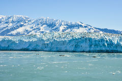 Hubbard Glacier on a cloudy day stock photography