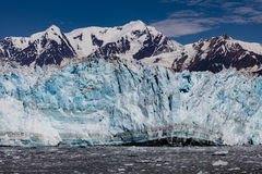 Hubbard Glacier and Floating Ice Stock Photos