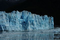 Hubbard Glacier (1 of 4). Glacial calving. Significant ice falling from the Hubbard Glacier in Alaska stock images