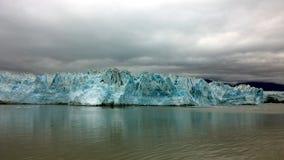 Hubbard glacier, Glacier Bay national park, Alaska. Hubbard glacier on cloudy day, Glacier Bay national park, Alaska Stock Photography