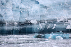Hubbard Glacier Ice - untold years of history Stock Photos