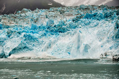 Hubbard Glacier while melting in Alaska Stock Photos