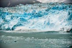 Hubbard Glacier while melting in Alaska Royalty Free Stock Photo