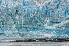 Hubbard Glacier while melting in Alaska Royalty Free Stock Images