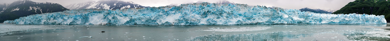 Hubbard Glacier while melting Alaska. Hubbard Glacier while melting, Alaska huge panorama landscape Stock Image